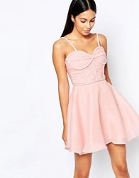Rare Opulence Prom Dress With Plaited Bust Detail Pink