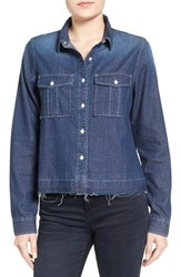 Women's Bp. Release Hem Denim Shirt