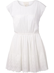 Band Of Outsiders Scalloped Lace Hem Dress White