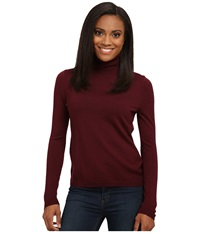Pendleton Classic Turtleneck Windsor Wine Women's Long Sleeve Pullover Burgundy