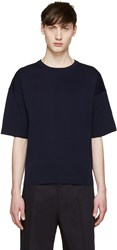 Jil Sander Navy Knit T Shirt
