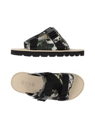 Msgm Footwear Sandals Men Green