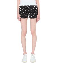 Chocoolate Star Print Cotton Shorts Black