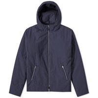 Folk Wadded Hooded Jacket Blue