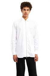 The World Is Your Oyster Zipper Shirt White