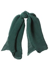 Agnona Cashmere Blend Scarf With Silk Green