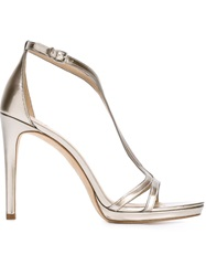 Tory Burch Strappy Stiletto Sandals Nude And Neutrals