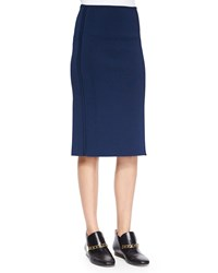 Derek Lam Knee Length Pencil Skirt Midnight Black Women's