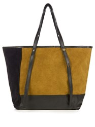 See By Chloe Andy Colour Block Suede Tote Navy Multi