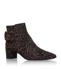 Roger Vivier Polly Leopard Print Ankle Boots Female Brown