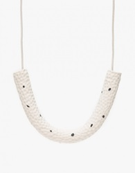Golf Necklace In White Speck