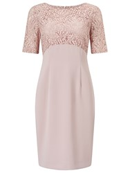 Jacques Vert Petite Lace Top Dress Light Neutral