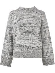 Dkny Pure Melange Mock Neck Jumper Grey