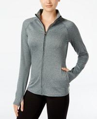 Jessica Simpson The Warm Up Juniors' Track Jacket Only At Macy's Pebbled Grey