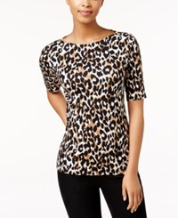 Charter Club Elbow Sleeve Top Only At Macy's Deep Black