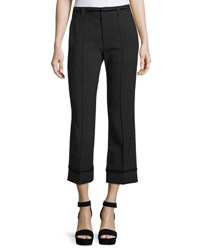 Marc Jacobs Cropped Stretch Wool Pants Black