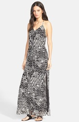 Iro 'Dahlia' Ikat Print Maxi Dress Black