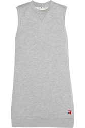 Alexander Wang Cotton Blend Jersey Mini Dress Gray