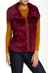 Fever Faux Fur Vest Red