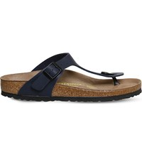 Birkenstock Faux Leather Thong Sandals Blue