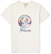 Remi Relief Rei Sli Fit Printed Cotton T Shirt Off White