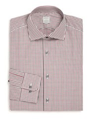 Ike Behar Regular Fit Gingham Dress Shirt