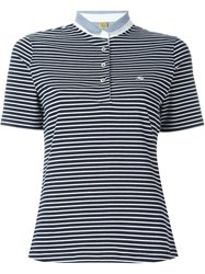 Fay Striped Polo Shirt Blue