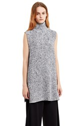 Alexander Wang Chunky Mohair Turtleneck Dickie Black White