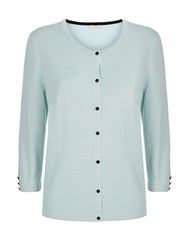 Planet Mint Button Through Cardigan Green