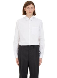 Lanvin Threaded Trim Poplin Shirt White