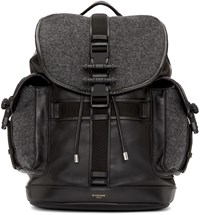 Givenchy Grey Wool And Leather Obsedia Backpack
