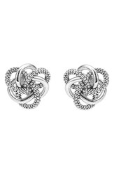 Lagos Women's 'Love Knot' Sterling Silver Stud Earrings