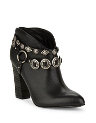 Belle By Sigerson Morrison Fusion Leather Ankle Boots Black