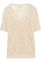 American Vintage Open Knit Cotton Top Nude