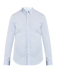 Maison Martin Margiela Button Down Collar Cotton Shirt Blue