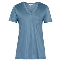 Reiss Leo Core T Shirt With Trim Airforce Blue