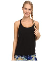 Zobha Emery Strappy Halter Cami Black Women's Workout