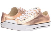 Converse Chuck Taylor All Star Metallic Canvas Ox Metallic Sunset Glow White Black Athletic Shoes Gold