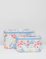 Cath Kidston Vanity Case Set Small Daisy Bed Clear