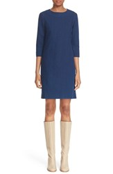 A.P.C. Women's 'Baba' Cotton And Linen Shift Dress