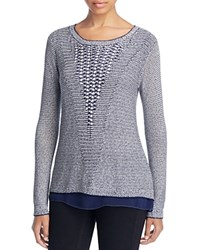 Sioni Sequin Woven Sweater Blue