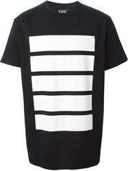 Ejxiii Printed Oversized T Shirt Black