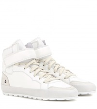 Isabel Marant Bessy Leather Sneakers White