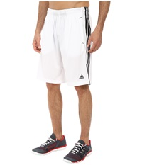 Adidas Essential 3S Shorts White Black Men's Shorts