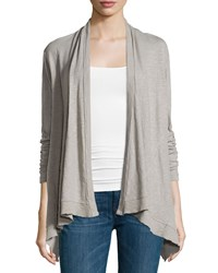 Jethro Long Sleeve Open Front Flutter Cardigan Elephant
