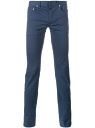 Christian Dior Homme Ruched Slim Fit Jeans Blue