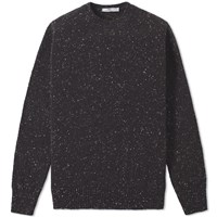 Inis Meain Donegal Crew Knit Black
