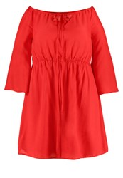 Missguided Plus Summer Dress Red
