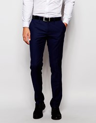 Sisley Suit Trouser In Slim Fit Navy