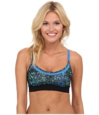Hurley Dri Fit Mesh Racer Sports Bra Photo Blue Women's Bra